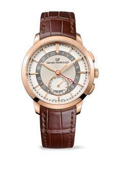 b68de46c01f Girard-Perregaux - 1966 Dual Time Relógios Chiques
