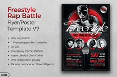 Freestyle Rap Battle Flyer Template V7 | The Hungry JPEG