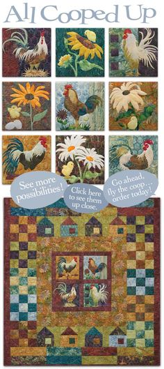 "McKenna Ryan, ""All Cooped up"", another chicken quilt I wanna make"