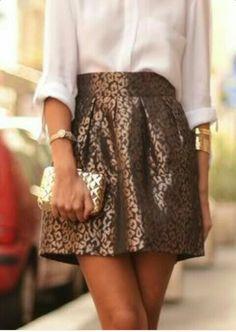 falda corta de leopardo Sequin Skirt, Sequins, Street Style, Nice, Skirts, Fashion, Short Skirts, Sew, Moda