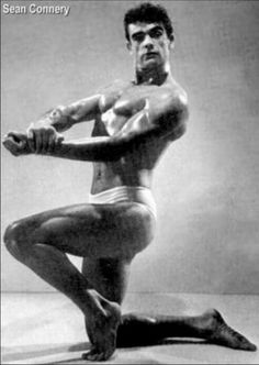 Sean Connery - Bodybuilding Contest Mr Universe 1955. I had no idea!