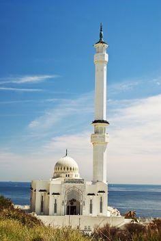 Gibraltar: Masjid by Sven Bannuscher on Mosque Architecture, Religious Architecture, Beautiful Architecture, Art And Architecture, Historical Architecture, Beautiful Mosques, Beautiful Places, Places Around The World, Around The Worlds