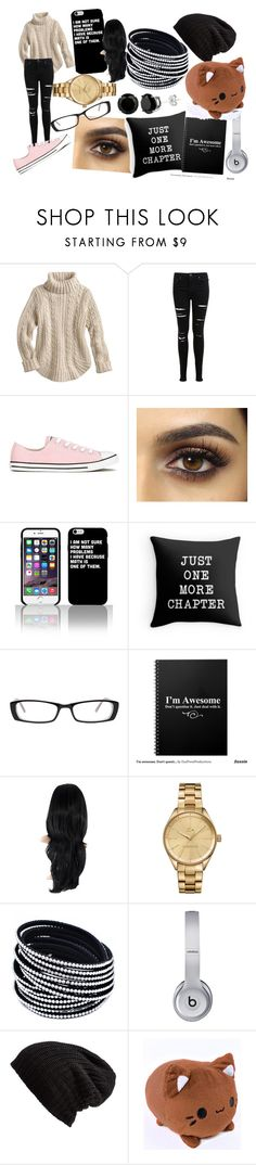 """""""shut up... and let me read..."""" by bonster-monster on Polyvore featuring Miss Selfridge, Converse, Cosmopolitan, Lacoste, Beats by Dr. Dre and Free People"""