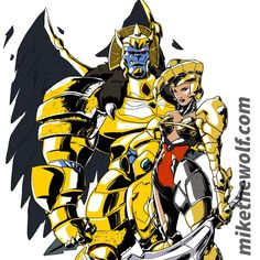 Goldar Scorpina by mikethewolf