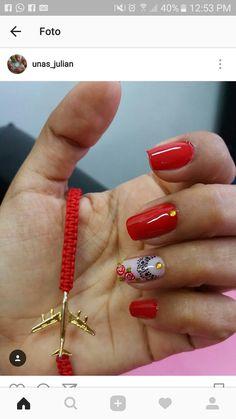 Red Nails, Pedicure, Hair Beauty, Nail Art, Nail Stickers, Nail Hacks, Nail Arts, Nail Bling, Nail Ideas