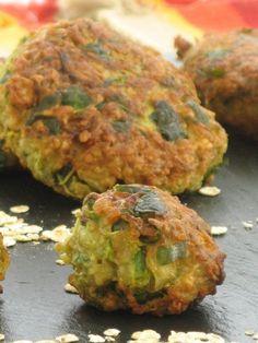 Recette - Galettes de flocons d'avoine oignons et courgette - Notée 4/5 par les…