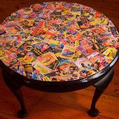 decoupage coffee table - i've been wanting to do this. | cool home