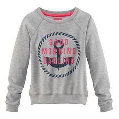 """Sweatshirt, mit Ankerprint und Statement """"Good Morning Darling"""""""