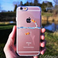 MADE IN JAPAN Soft Clear TPU Case Goldfish design for iPhone 6 & iPhone 6s