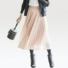 255901c3e32d 21 Best Chiffon pleated skirt images in 2018 | Dress skirt, Pleated ...