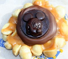 A macadamia Mickey mouthful of deliciousness! Main St USA, WDW.