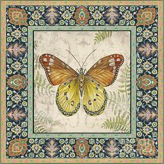 I uploaded new artwork to fineartamerica.com! - 'Vintage Tapestry Butterfly-b' - http://fineartamerica.com/featured/vintage-tapestry-butterfly-b-jean-plout.html via @fineartamerica