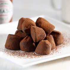 Hot and spicy Tabasco chocolate truffle recipe for Valentine's Day Spicy Recipes, Candy Recipes, Dog Food Recipes, Cooking Recipes, Romantic Meals, Truffle Recipe, Great British Bake Off, Chocolate Truffles, Recipes