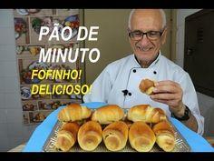 PÃO DE MINUTO – RÁPIDO! – FOFINHO! – DELICIOSO! - YouTube Croissants, Hot Dog Buns, Good Food, Frozen, Tasty, Favorite Recipes, About Me Blog, Breakfast, Sweet