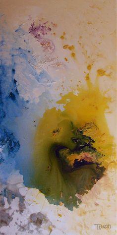 """Abstract Art, Ocean Jasper, 24""""x48"""", by Tatjana Ruzin"""