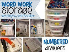 Tunstall's Teaching Tidbits: Word Work Storage and Yearly Plan