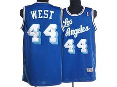 f4fad3aebf2 Mitchell and Ness Lakers  44 Jerry West Stitched Blue Throwback NBA Jersey  Soccer Jerseys