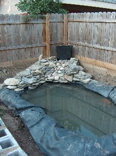 1000 images about backyard ponds on pinterest diy pond for Homemade pond liner
