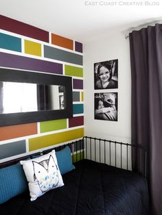 How to Paint a Mosaic Accent Wall- would be fun in kids playroom with different colors