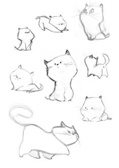 die Skizzen von Caroline Piochon – dessin … the sketches by Caroline Piochon – dessin Drawing Tips, Drawing Reference, Drawing Ideas, Drawing Art, Cat Drawing Tutorial, Easy Cat Drawing, Cat Reference, Drawing Poses, Gesture Drawing