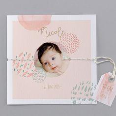 Unsere Babykarte Aquarell - verschickt Liebe und schöne Geburtskarten