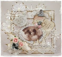 Vintage card using Inkido Angels images
