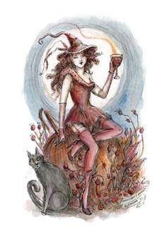 "The Art of Paulina Cassidy - ""Moonlight Merlot"" - 5x7 fine art print on enhanced paper"