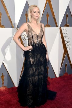 """mcavoys: """" Jennifer Lawrence attends the 88th Annual Academy Awards at Hollywood & Highland Center on February 28, 2016 in Hollywood, California. """""""