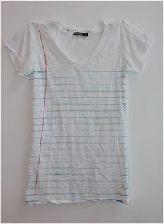 "E for Effort, the collaborative project  between Brooklyn artists Beka Goedde and Rachel Ostrow, created these ""Loose Leaf"" t-shirts, totes, tank tops and onesies for Artware Editions. They're purdy pricey for t-shirts, but the concept is simple and fun."