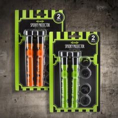 #PoundlandHalloween Light up your Halloween party with these spooky projector torches. Includes 4 spooky lenses. Each requires 2 x AA batteries. (Not included). This is a decoration and not a toy, keep out of reach of children.
