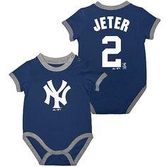 New York Yankees Newborn Derek Jeter. can you tell my husband is a Yankees Fan New York Yankees, Yankees Fan, Yankees Outfit, Baby Blessing, Derek Jeter, Kids Wear, Children Wear, Baby Love, Baby Baby