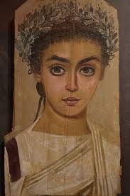 Mummy portrait of a girl, AD 120-150, Roman Egypt, wax encaustic painting on sycamore wood, Liebieghaus, Frankfurt am Main.