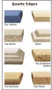 corian countertop edges | Engineered Quartz Countertop Edges in Phoenix.