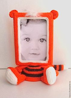 """Купить Фото рамка """"Тигрёнок"""" - подарок, ребенку, девочке, фоторамка, фоторамка ручной работы, для фото"""