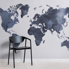 Mappa Del Mondo Atlas Arte Ottimo Free Squeegee Decalcomania Vinile//Adesivo//