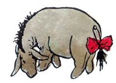 I have loved eeyore my whole life.  Someone had sewn one for me when I was an infant and I still have it.  We're Peeps.