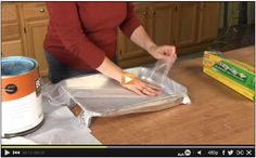 You'll wonder why you never thought of this easy clean-up painting idea before! Watch the video: http://www.familyhandyman.com/video/v/72340731/self-stick-paint-shield.htm