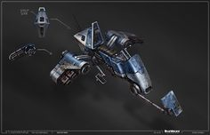 SWTOR Concept Art - Swoopbike // by Ryan Dening