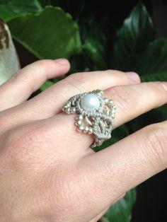 Size 10 Macrame ring par creationsmariposa sur Etsy, $15,00