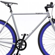 Love the color combo and clean lines of the Pure Fix fixie bike -- Whiskey Gloss Grey/Blue