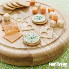 Tease, Please!: This fool-the-eye platter isn't all it's crackered up to be: cookies and candy chews stand in for the traditional savory snack.