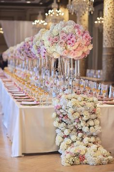 Wedding reception centerpiece idea; Featured Event Design: Kesh Designs