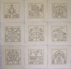 Little Patchwork Village is a Wall Quilt designed by Rosalie Quinlan bubzrugz.blogspot...