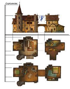 Guillaume Tavernier – Gui… - Minecraft World Architecture Minecraft, Minecraft Buildings, Minecraft Houses Blueprints, House Blueprints, Minecraft Creations, Minecraft Designs, Construction Minecraft, Building Map, Building Ideas