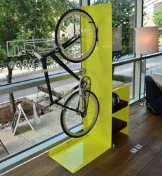 Handsome Two-Wheeler Hangers : Quarterre Furniture for Bikes