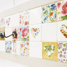 Patchwork tiles from Notonthehighstreet.com | Splashbacks | Kitchen | PHOTO GALLERY | Ideal Home | Housetohome.co.uk