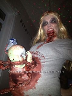 Scariest Pregnant Zombie Costume Ever! ... This website is the Pinterest of costumes