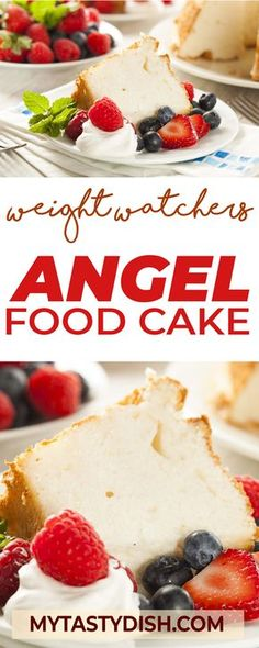 Angel Food Cake - Weight watchers FreeStyle Smart Points Friendly #ww