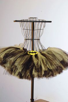 Adult Batman Like Black and Yellow Tutu by OhSoPrettyDesigns, $40.00 I NEED THIS FOR KISS ME DIRTY!!!!