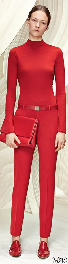 Resort 2016 Boss all red. women fashion outfit clothing style apparel @roressclothes closet ideas